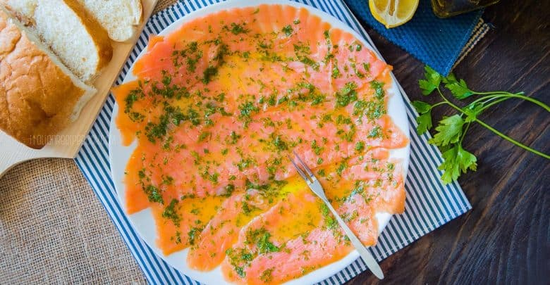 Salmon Carpaccio {Using Fresh or Smoked Salmon}