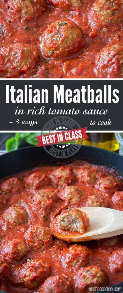 italian meatballs collage