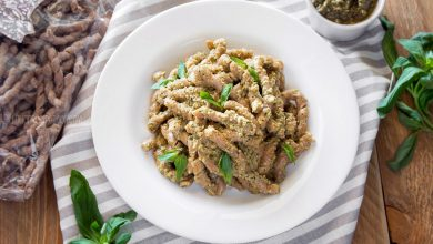 Busiate with Pesto Alla Trapanese {Sicilian Almond, Basil & Tomato Pesto}