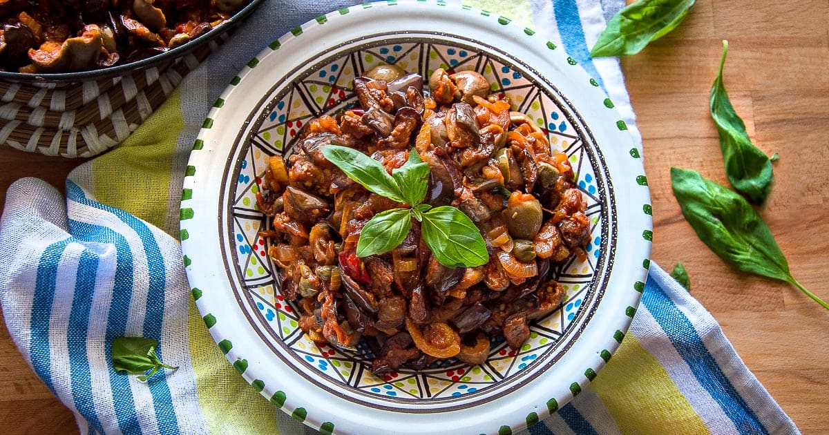 Caponata {Sicilian Eggplant Salad}