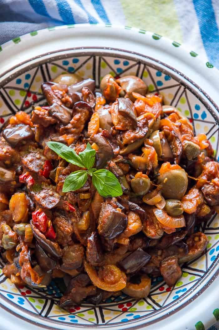 Sicilian Eggplant Caponata {Authentic Recipe}