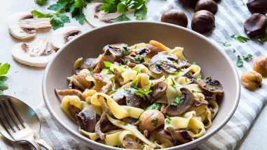 Photo of Tagliatelle with Sauteed Mushrooms, Roasted Meat & Chestnuts