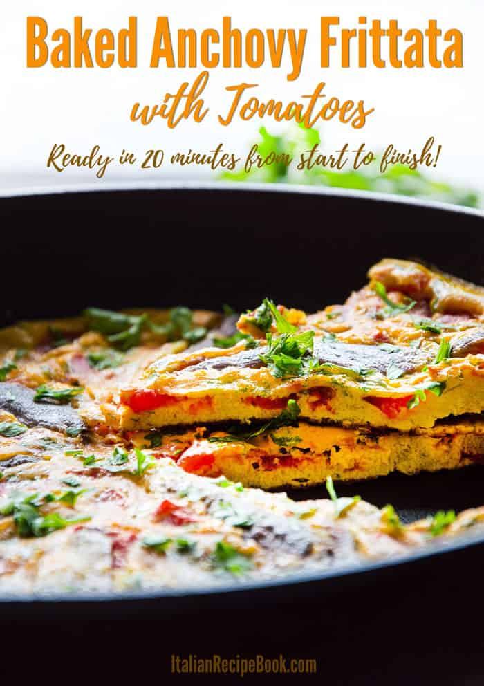 Delicious Baked Anchovy Frittata with Tomatoes!