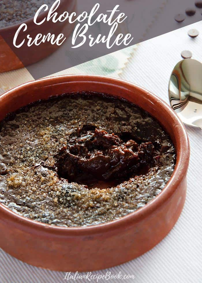 Creamy, melt-in-the-mouth Chocolate Creme Brulee