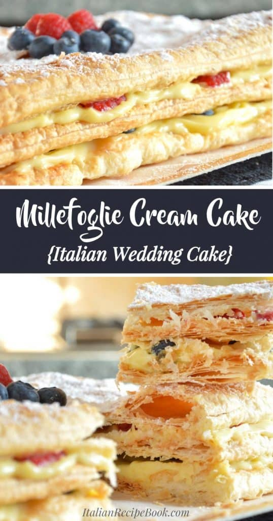 Millefoglie Cream Cake {Italian Wedding Cake} - Step-By-Step