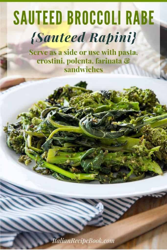 Delicious Sauteed Broccoli Rabe {Rapini}