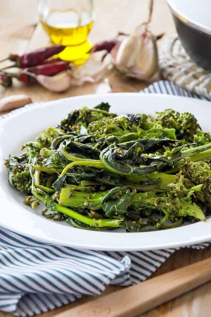 Sauteed Broccoli Rabe {Rapini}