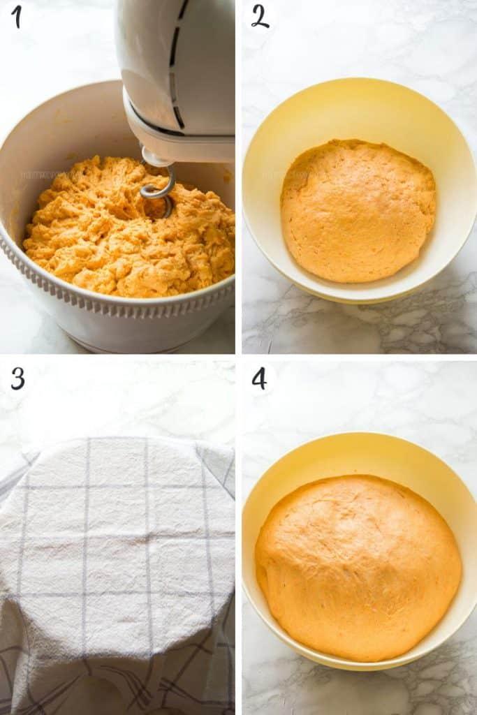 Pumpkin Chocolate Chip Bread - Steps 1-4