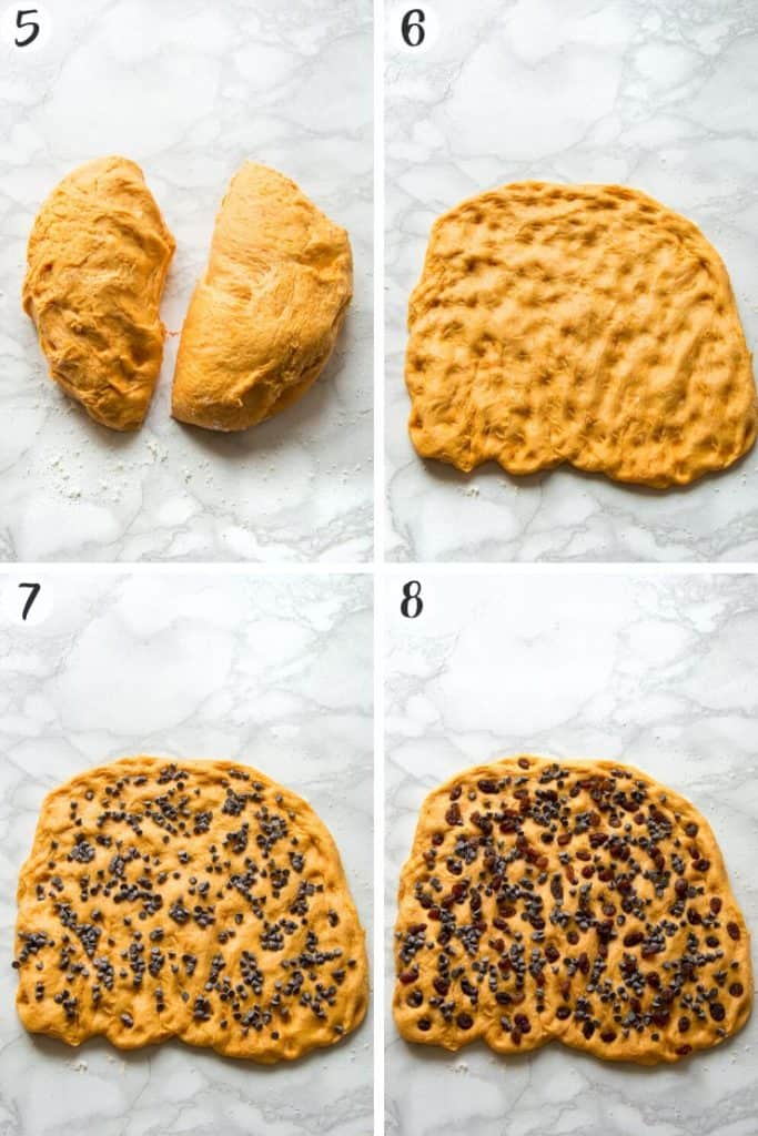 Pumpkin Chocolate Chip Bread - Steps 5-8
