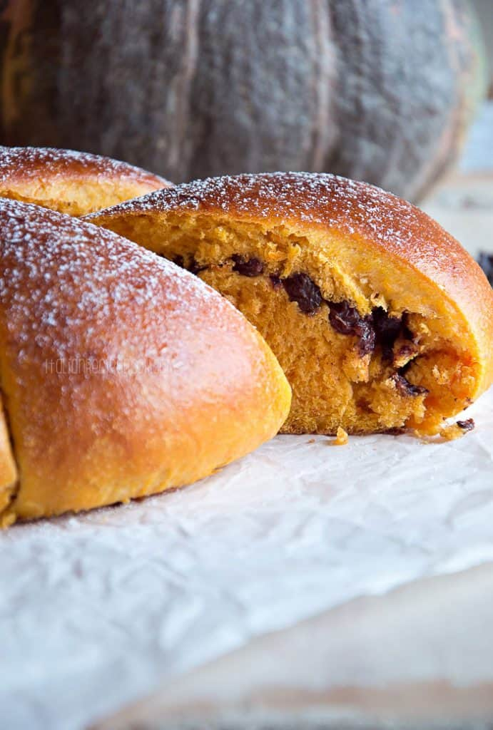 Pumpkin Chocolate Chip Bread Inside