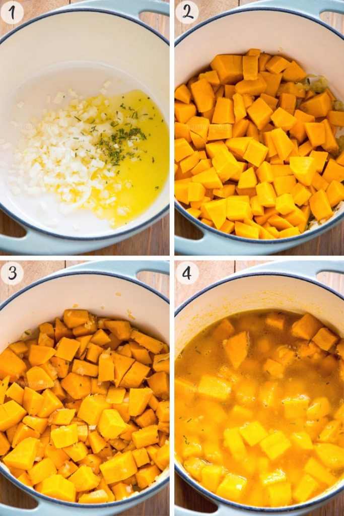 Creamy Pumpkin Soup - Step 1-4