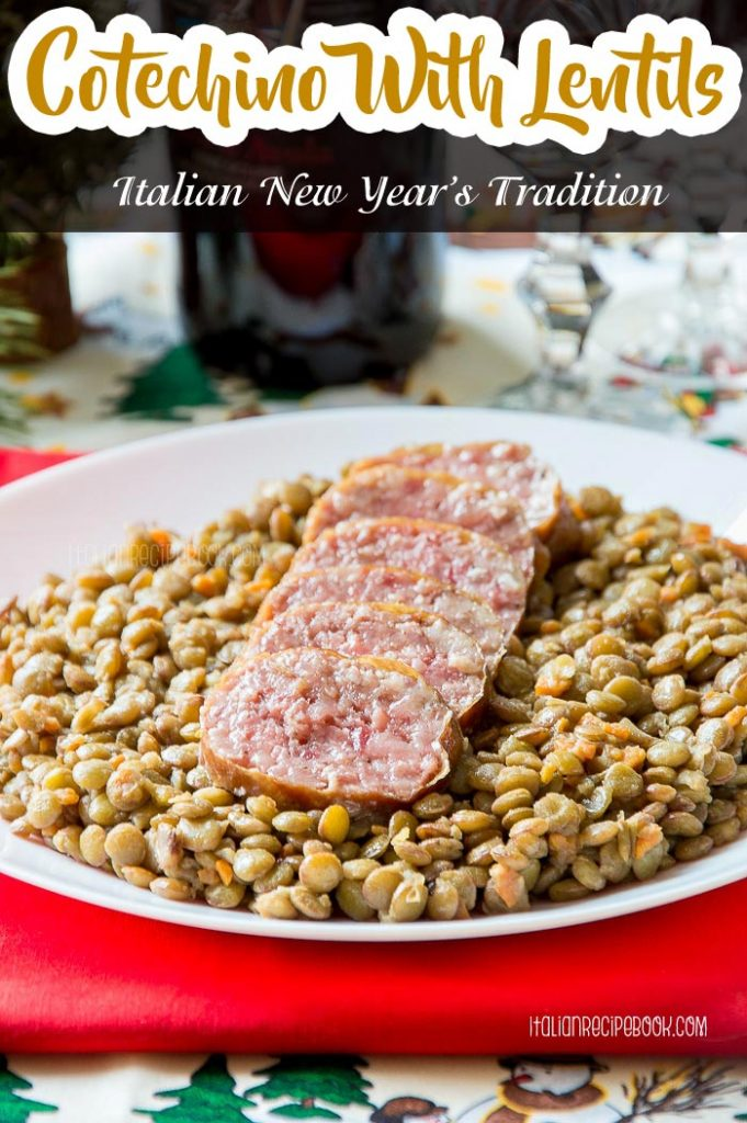 Cotechino With Lentils Pin
