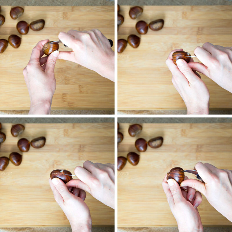 How To Score Chestnuts With a Chestnut Knife