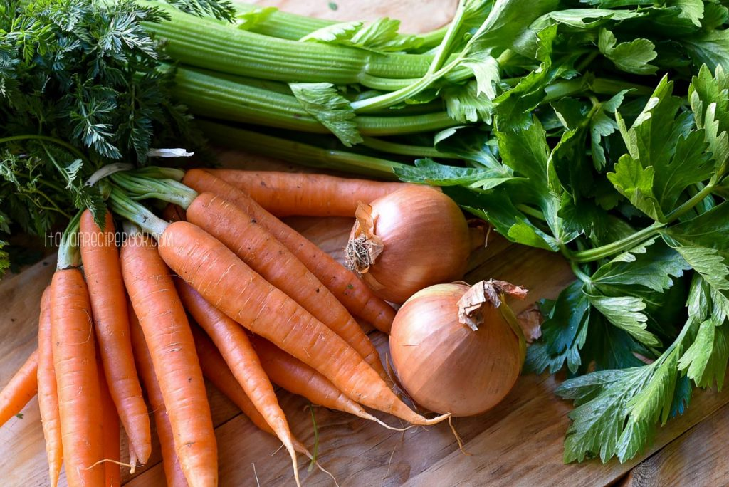 fresh vegetables for soffritto