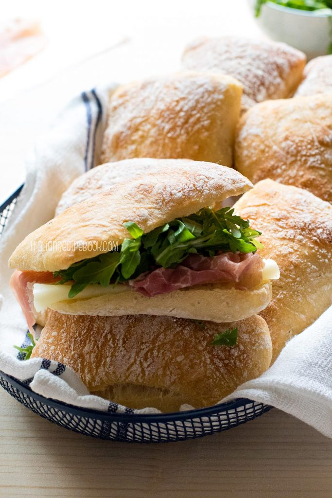 ciabatta bread roll sandwich